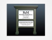 Rogers & Marney job sign