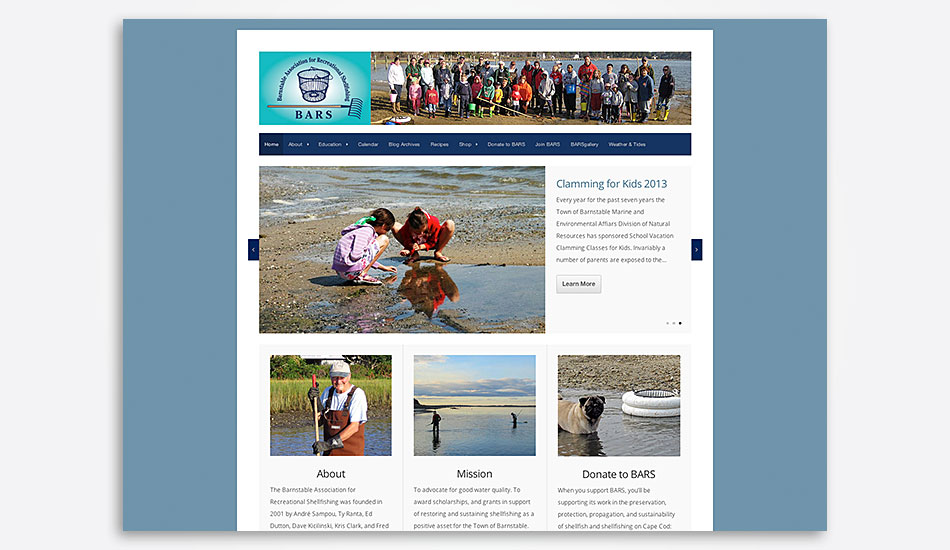 Barnstable Association for Recreational Shellfishing website