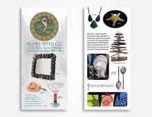 Soho Arts Company rack card design