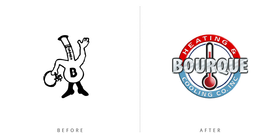 Extreme Design Makeovers Bourque Heating and Cooling logo