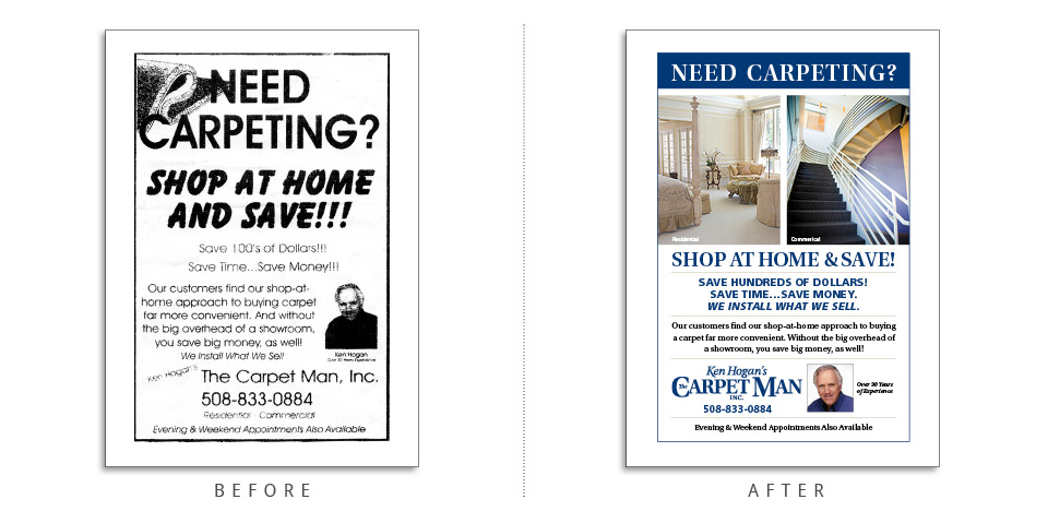 Extreme Design Makeovers Ken Hogan's The-Carpet Man ad